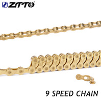 MTB Road Bike Chain Gold 9 Speed High Quality Durable for Shimano SRAM System