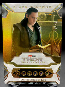 2021 UD Marvel Black Diamond Tom Hiddleston as Loki 6 Infinity Stone Relic 7/23