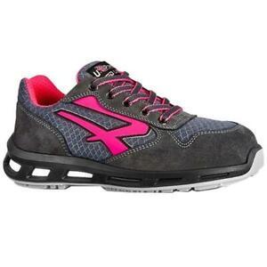 Zapatos Seguridad Mujer Verok Gris / Fucsia Suela S1p UPower