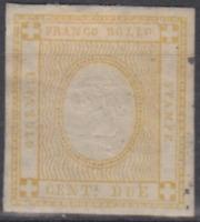 ITALY Regno - 1862 Sassone n.10c (giallo) cv 110$  MH*