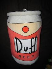 "RARE THE SIMPSONS 17"" DUFF BEER CAN PILLOW PLUSH TOY DOLL FIGURE"