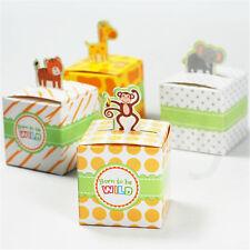 3/10Pcs Born To Be Wild Baby Shower Jungle Safari Theme Favor Candy Box Animal