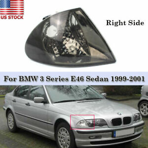 For 1999-2001 BMW 323i 328i 320i 325i 330i Right Park Signal Lights Smoke Lens