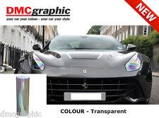 2xA4 coche moto faros Rearlight Chameleon Transparente Película Adhesiva Tinte