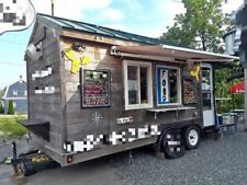 Used 2012 Food Concession Trailer With Porch Portable Kitchen For Sale In Main