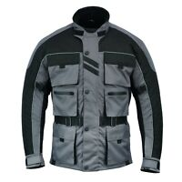 MENS Motorcycle Motorbike Waterproof Breathable CE Armour Cordura Textile Jacket