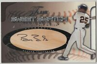 "2002 FLAIR SWEET SWATCH BARRY BONDS AUTOGRAPH JUMBO BAT CARD /35 ""AS IS"" CREASED"