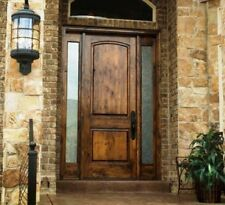 8ft Tuscan Style Knotty Alder Entry Door with Sidelites