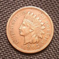 1905 Indian Head Cent/Penny - Extremely Fine XF EF
