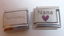 NANA & HEART 9mm Italian Charm + 1x Genuine Nomination Classic Link - I Love my