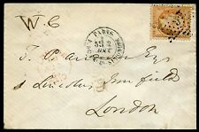 FRANCE PARIS 2 AOUT 1864  40 cen PERF STAMP ON COVER TO LONDON AS SHOWN