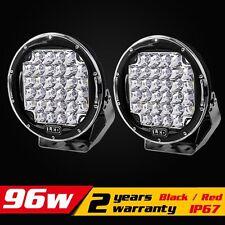2PCS 9inch 96W LED Work Light Spot Offroad Driving Lamp Car Truck ATV 4WD SUV