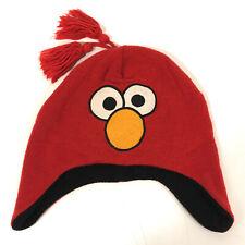 ELMO Sesame Street Warm WINTER Hat Cap YOUTH SZ with Ear Flaps - Hbx12