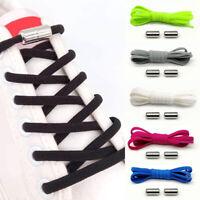 Solid Elastic Lazy Tie-Free Metal Twist Buckle Shoestrings Sneakers Shoelaces