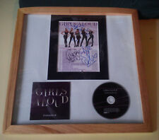 GIRLS ALOUD SIGNED FRAMED TANGLED UP MAY 2008 TOUR POSTER + CD GREAT CONDITION