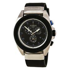 Nixon Men's Watch Rover Chronograph Black Dial Silicone Rubber Strap A2901529