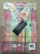 Ralph Lauren Kids shirt - Pastel Pink & Green - Size: 3 T