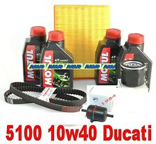 DUCATI MONSTER 600 ie 620 ie FILTER KIT + Öl MOTUL 5100 10W40 RIEMEN ORIG