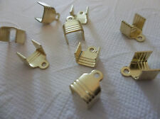 10 Brass Rhinestone Chain Connectors Crimps 7.5mm Size for 6.5mm Size Chain