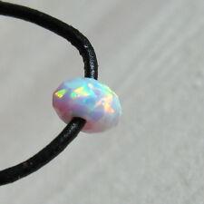 synth. opal weiss rainbow rondell gebohrt, facettiert, 7x4mm, 2mm bohrung