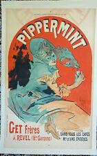 JULES CHERET - ORIGINAL VINTAGE POSTER - PIPPERMINT- 1899 - COURRIER FRANCAIS