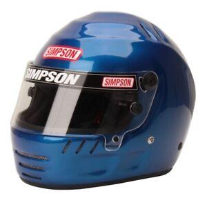 Simpson Jr Speedway Shark Racing Helmet/Lid SFI 24.1 - Blue Youth M or youth L