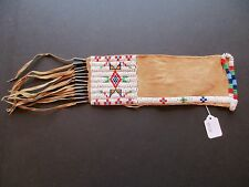 NATIVE AMERICAN BEADED PIPE BAG, AMERICAN INDIAN BEADED CHANUPA BAG BUF-00338