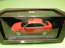 MINICHAMPS 1:43  AUDI A4 - 2004  RED - MINT CONDITION  IN BOX