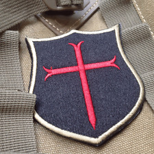 CRUSADER SHIELD USA NAVY SEAL TEAM 6 Hook &Loop PATCH Morale Badge
