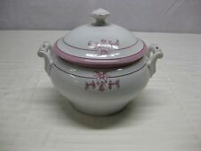 Antique Vintage Small Handled Covered China Serving Dish Bowl with lid