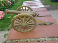 Antique Solid Brass Cannon