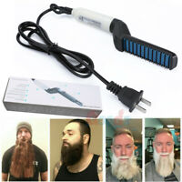 Electric Beard/Hair Straightener Brush Comb, Hot Tools Hair Flat Curling Iron