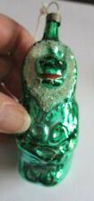Antique German ? Czech ? Green Figurative Christmas Tree Glass Ornament Monkey
