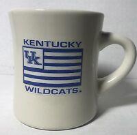 UK KENTUCKY WILDCATS STONEWARE WHITE CERAMIC TEA AND COFFEE DINNER MUG DINNER