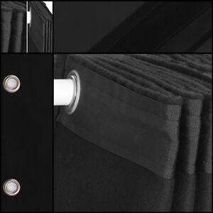 Bühnenvorhang-Backdrop-Geöst Molton-Stoff SCHWARZ - 2m x 2,50m neu