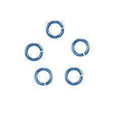 6mm niobium teal jump anneaux-hypoallergénique (20 gauge) pack de 20 (K36/20)