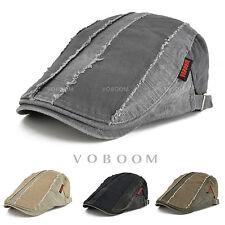 Men's Wash Stripes Stitching Beret Caps Newsboy Ivy Hats Golf Flat Cabbie Gatsby