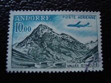 ANDORRE (francais) -timbre yvert et tellier aerien n° 8 obl (A33)stamp andorra(E