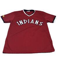 Vintage Cleveland Indians Jersey Mens Size XL Tribe Red V-Neck Retro Jersey