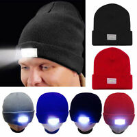 5 LED Lighted Cap Hat Winter Men Women Warm Hunting Camping Running Fishing - US