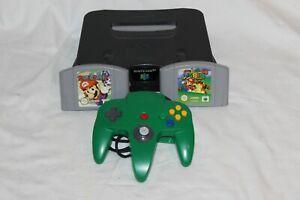 Nintendo N64 Consola + Mando Original Verde + Mario Party + Super Mario 64