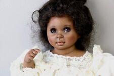 VINTAGE Porcelain Artist Doll BLACK BABY GIRL Posable DUMPLIN' Karen B. Alderson