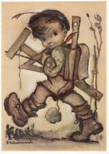 Künstlerkarte von Hummel: Schulausreißer 1950er