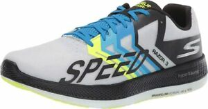 Skechers Unisex Go Run Razor 3 Running Shoe, Black/Green, Men's 5.5, Women's 7