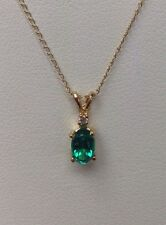 "14K Yellow Gold .50 ct Tsavorite Pendant on 14K Yellow Gold 18"" Necklace"