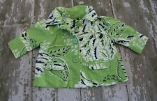 GAP 3/4 sleeve Green Navy Blue White Tropical button front Blazer Jacket Coat 3T