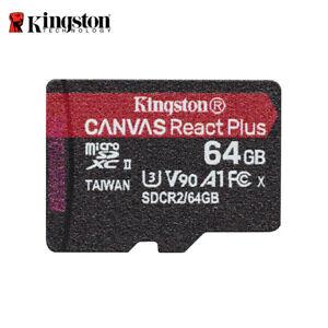 Kingston Canvas React Plus 64GB microSDXC UHS-II U3 Card for 4K/8K Action Camera