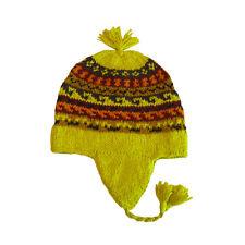 100% Alpaca Lana CHULLO Funky Sci Skate Hat realizzata a mano commercio equo