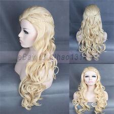 3-7 Day US Ship Cosplay Cos Wig Game of Thrones Daenerys Targaryen Braids Blonde