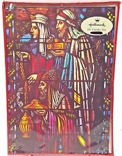 Christmas Holiday Cards 3 Kings Stained Glass 20 count Hallmark Recycled Paper